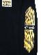 Leopard print long T-shirt Black
