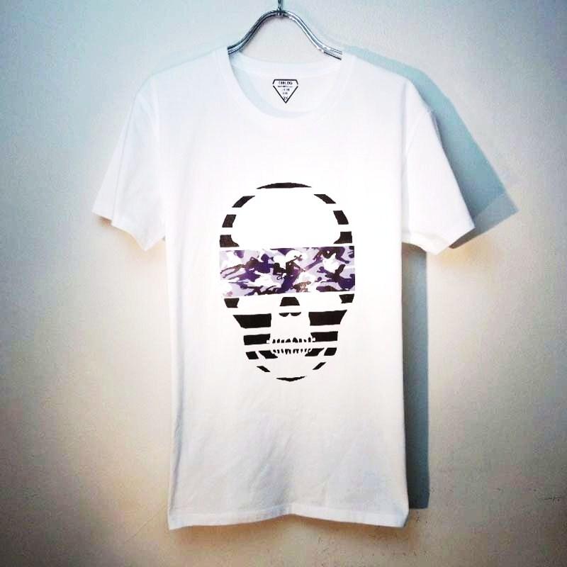 Skull camouflage White×Blue