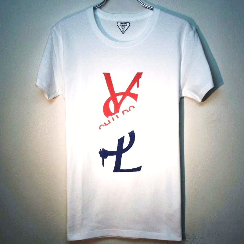 パロディクラッシュメルト Tシャツ / white×フランスカラー