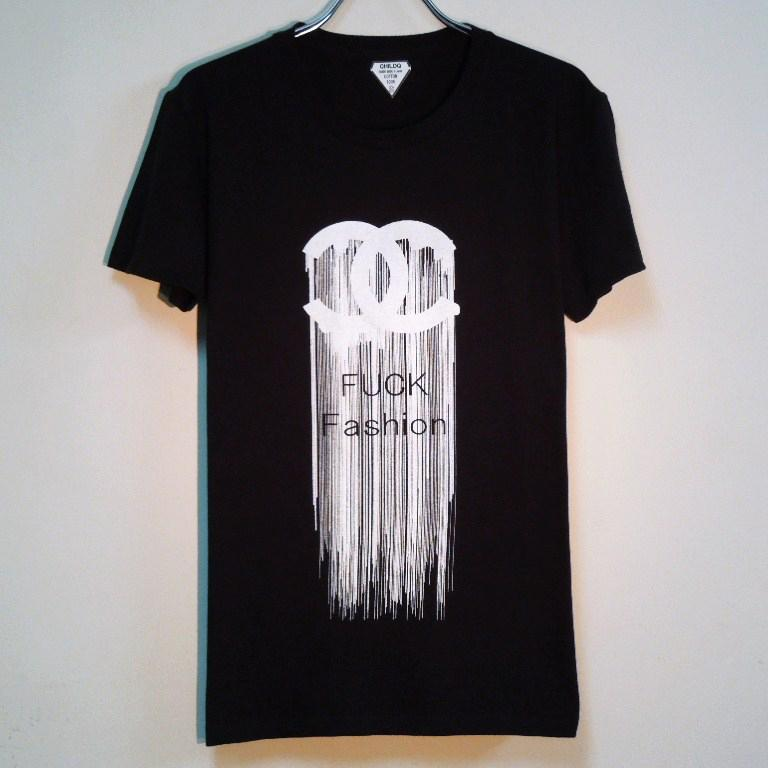 Fuck Fashion waterfall T-shirt Black