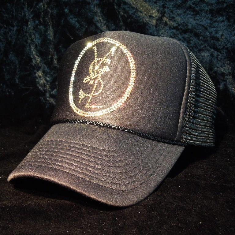 Emblem crash melt Swarovski cap Black×Gold