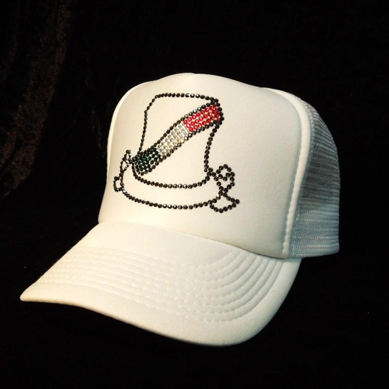 Line emblem Italy color CAP white