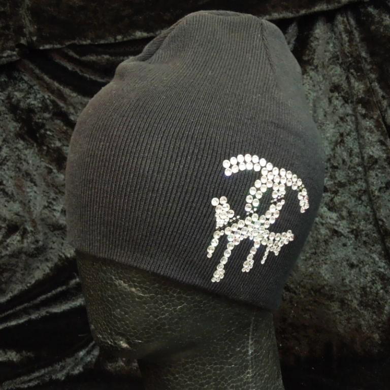 Parody Melting Swarovski knit cap black