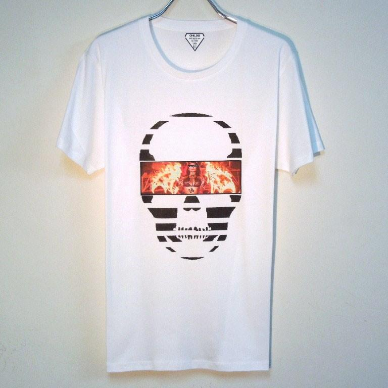 Skull Tattoo Girl NO.14 T-shirt White