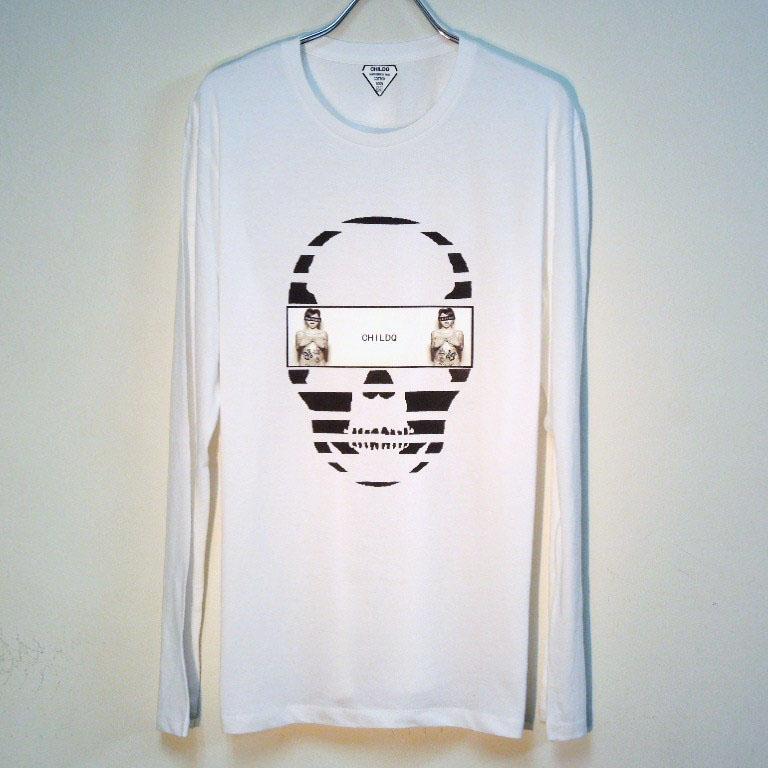 Skull Tattoo Girl NO.16 T-shirt White