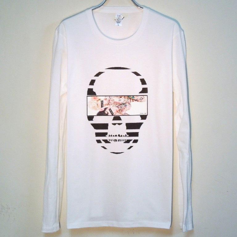 Skull Tattoo Girl NO.17 T-shirt White