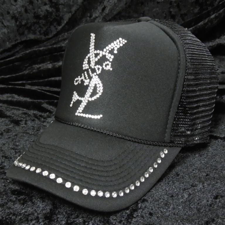 Parody crash melt full custom Swarovski cap / Black