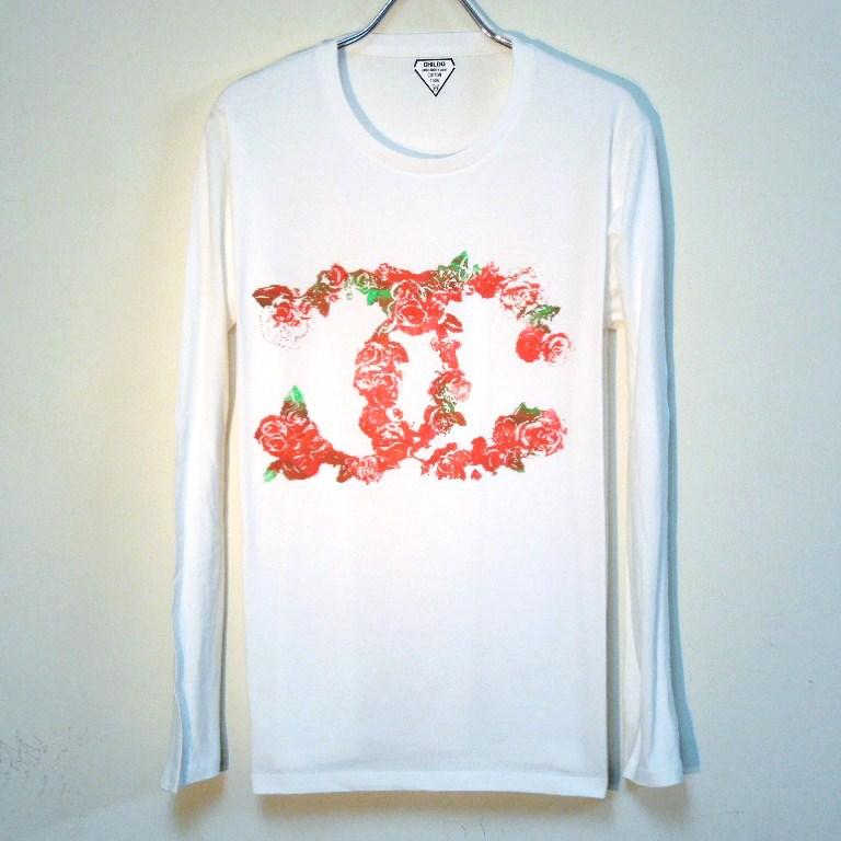 Art Flower Parody Long T Shirt White