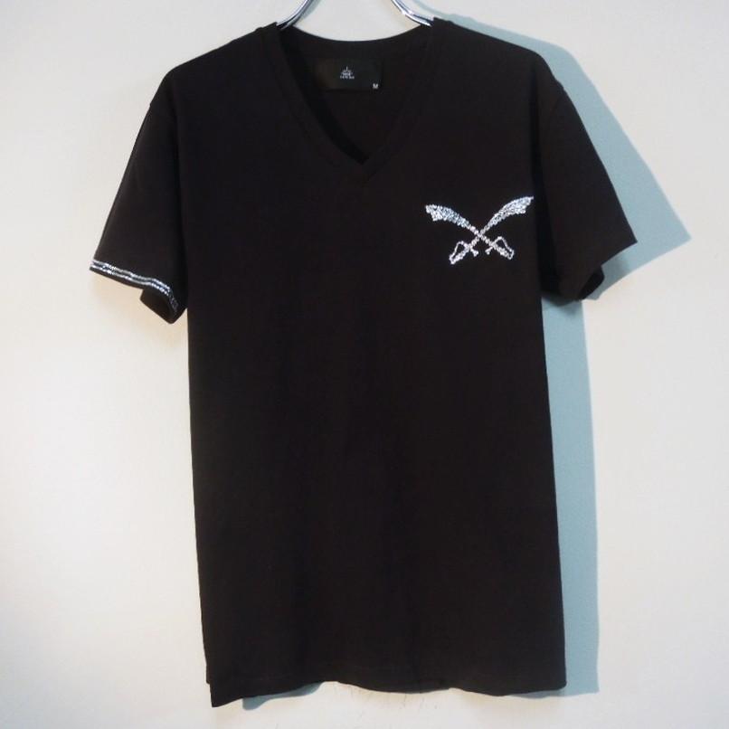 クロスソードスワロフスキーTシャツ / Black