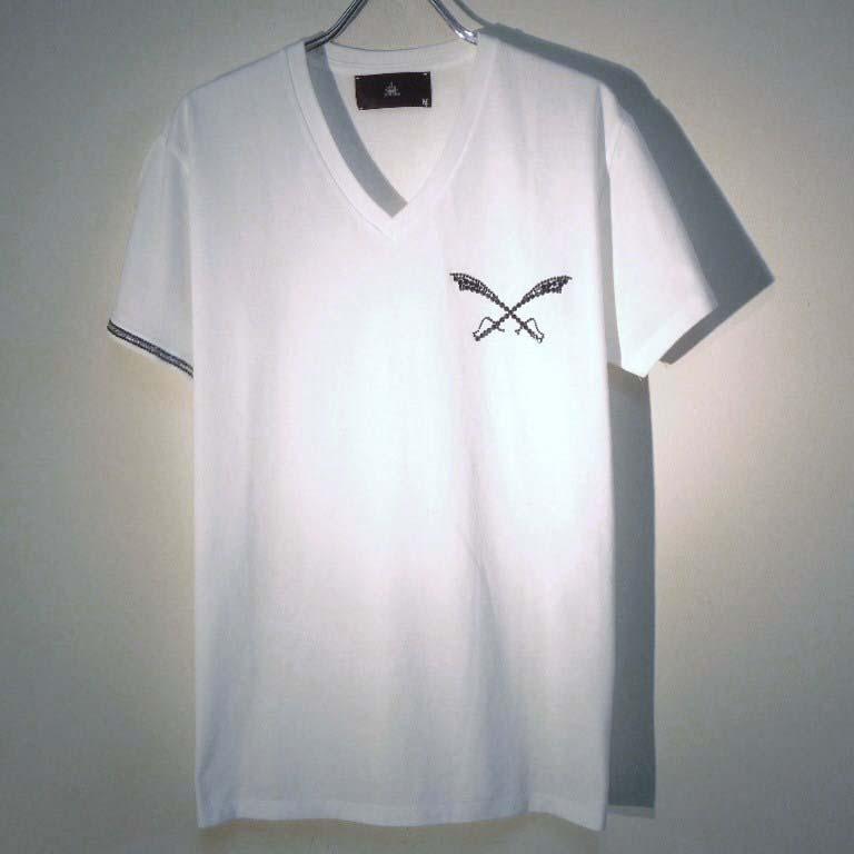 クロスソードスワロフスキーTシャツ / White