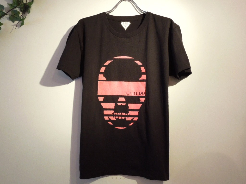 スカルイズオーヴァー スワロフスキー Tシャツ / Black×Pink