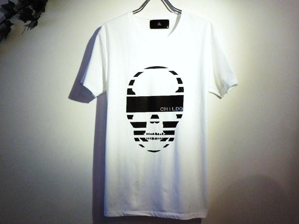 スカルイズオーヴァー スワロフスキー Tシャツ / White