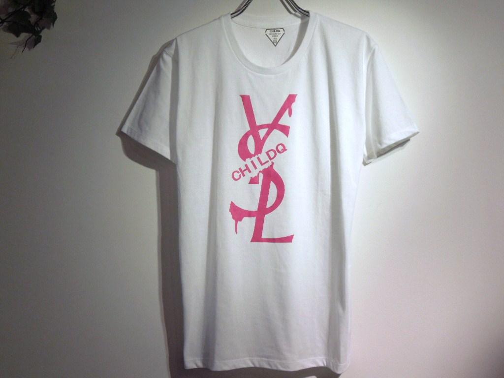 パロディクラッシュメルト Tシャツ / White×Pink