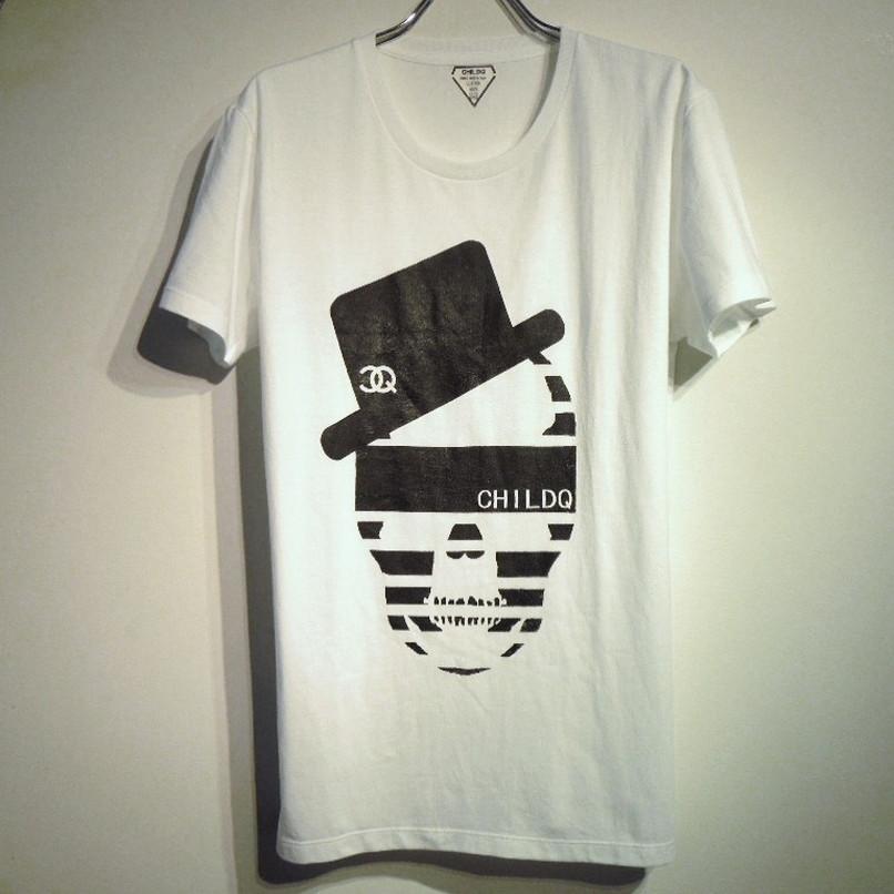 ハットCQスカル Tシャツ / White×Black