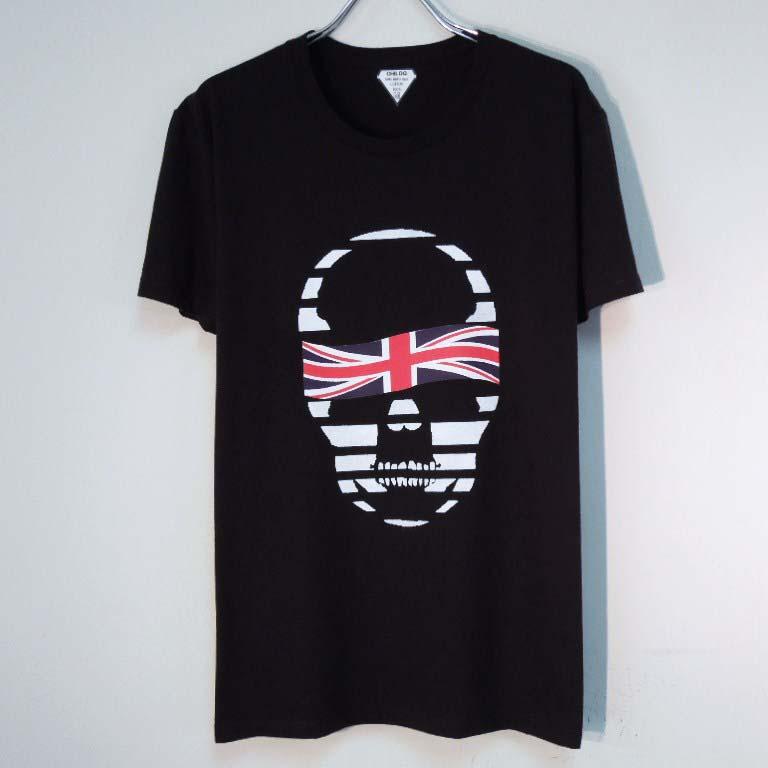 スカル ユニオンジャック Tシャツ / Black