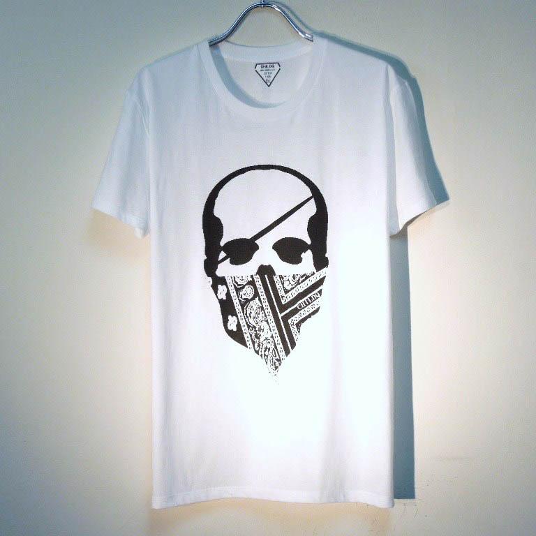 スカル バンダナ Tシャツ / White