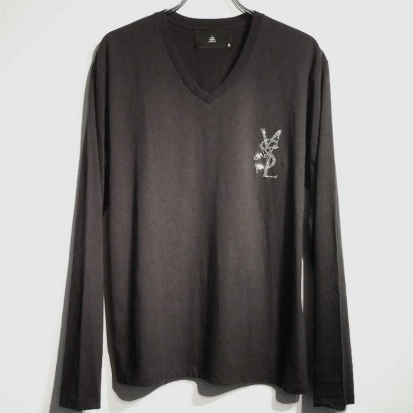 パロディクラッシュメルト スワロフスキー ロングTシャツ / Black
