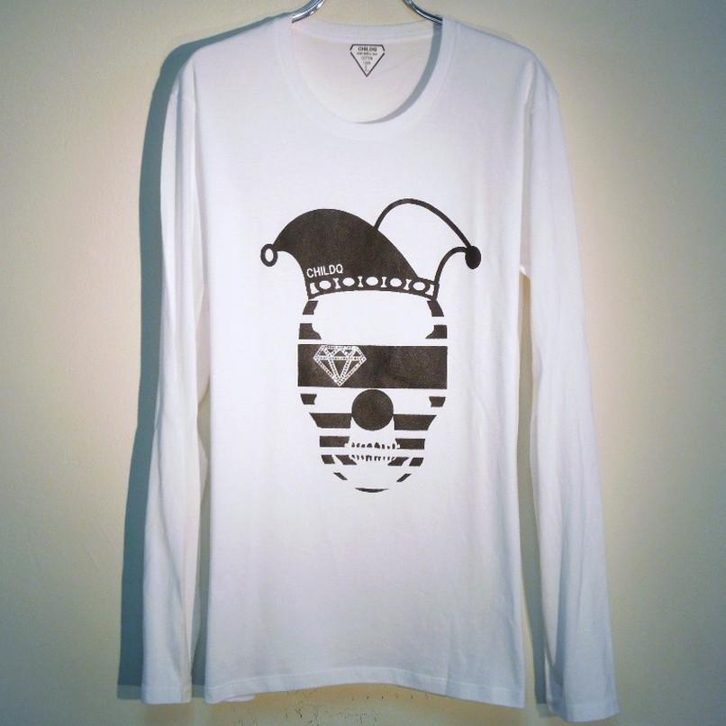 スカルピエロ スワロフスキー ロングTシャツ / White