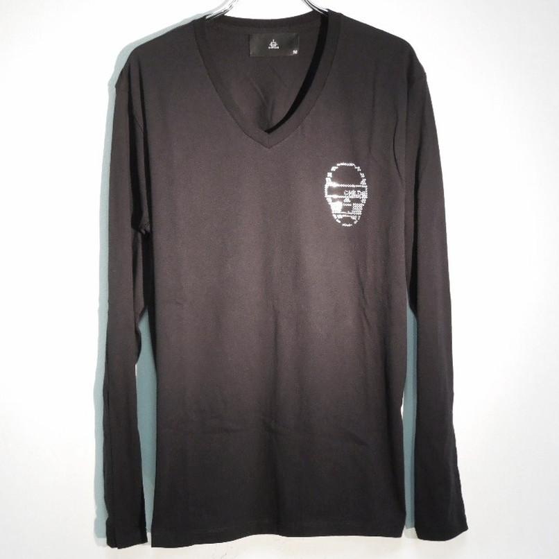 スカル スワロフスキー ロングTシャツ / Black
