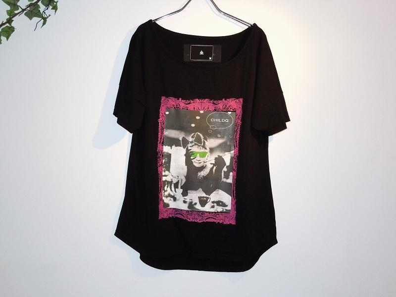 モノクロ レディA スワロフスキー Tシャツ / Black