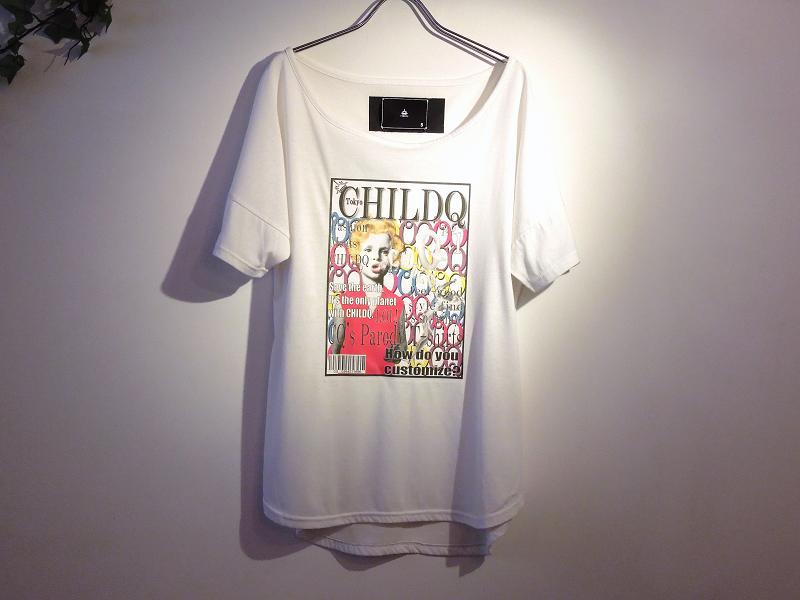 チャイルドキューガール マガジン スワロフスキー Tシャツ / White