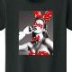 Monogram Girl Swarovski T-shirt Black