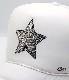 Rock Star swarovski cap white