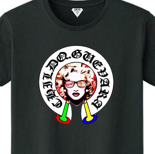 Madonna Old Font T-shirt Black