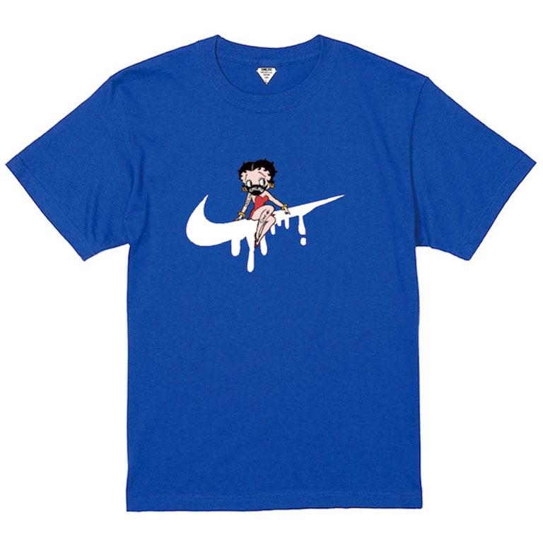 CHILDQ & Betty N.o2 Black×Blue T-shirt