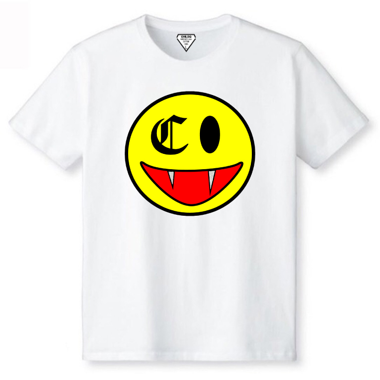 Killer Smiley Swarovski T-shirt White