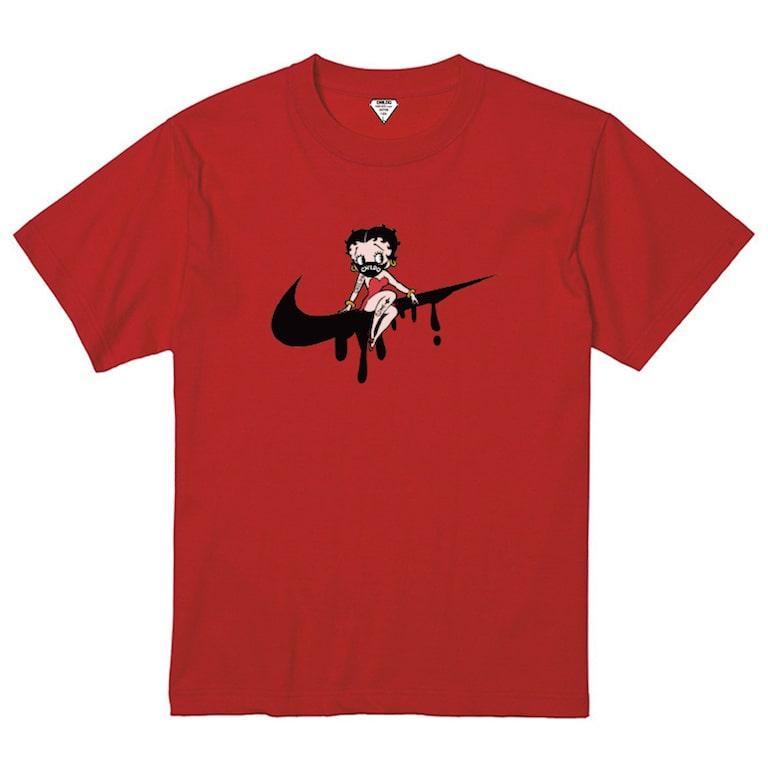 CHILDQ & Betty N.o2 Black×Red T-shirt