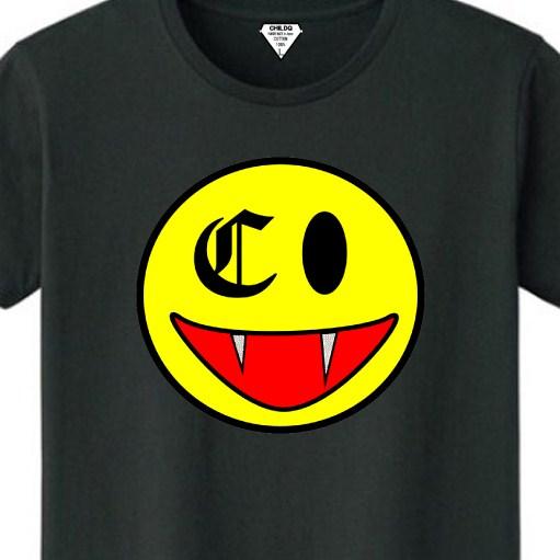 Killer Smiley Swarovski T-shirt Black