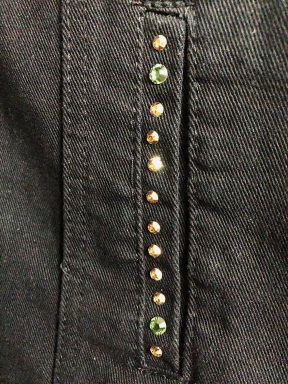 【数量限定商品】Marilyn Swarovski Damage Crush Denim Jacket