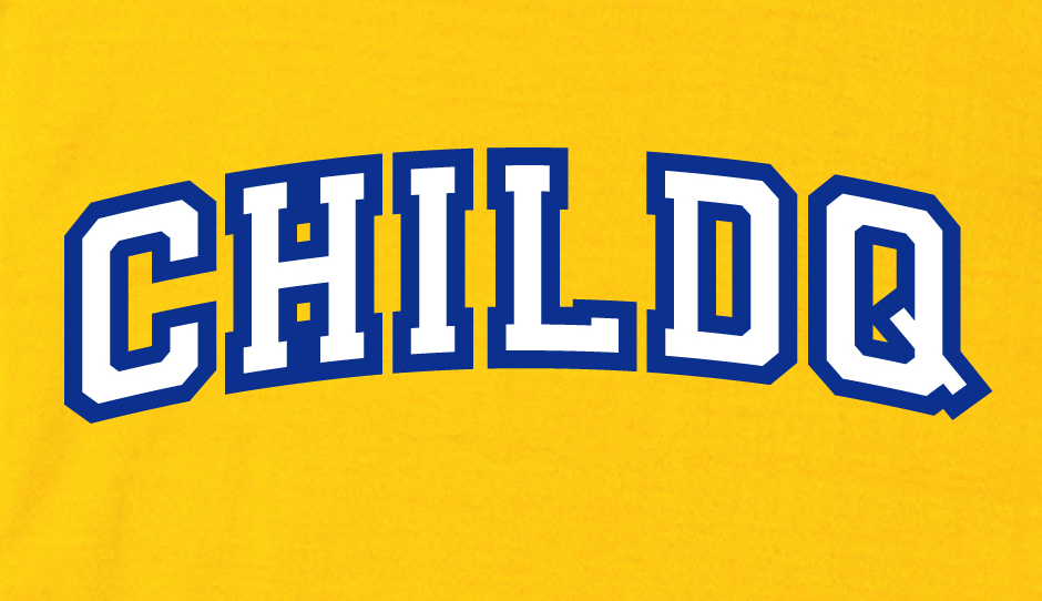 College font style T-shirt yellow