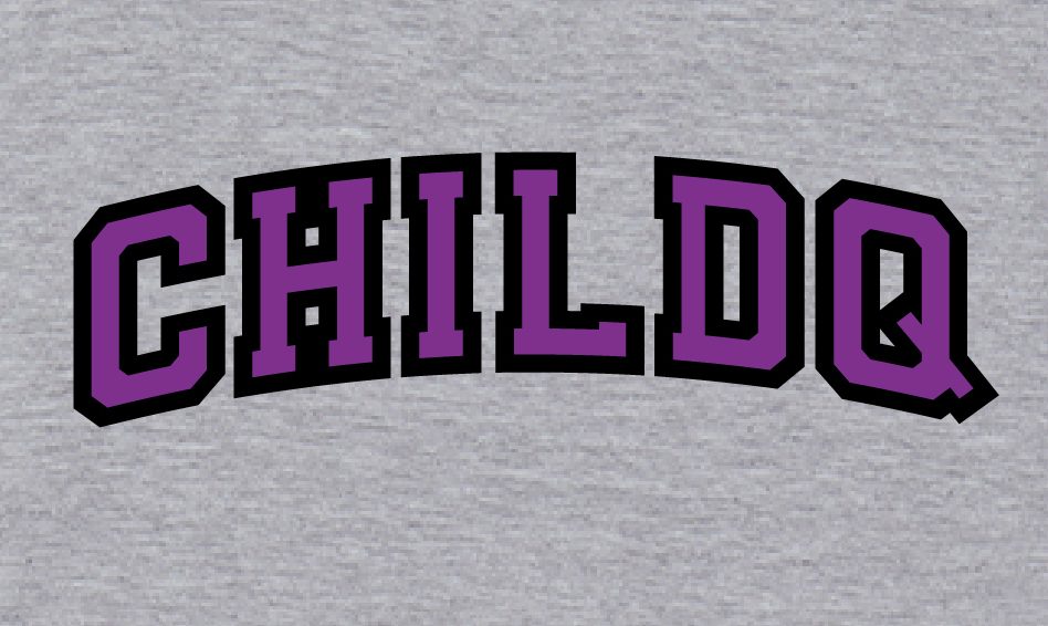 College font style T-shirt grey