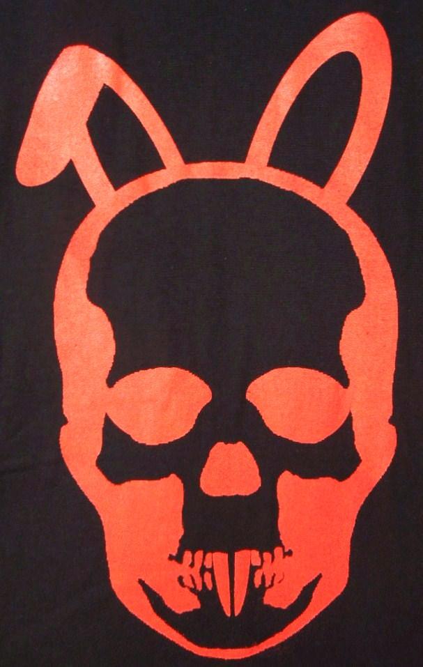 Skull Bunny T-shirt Black×Red