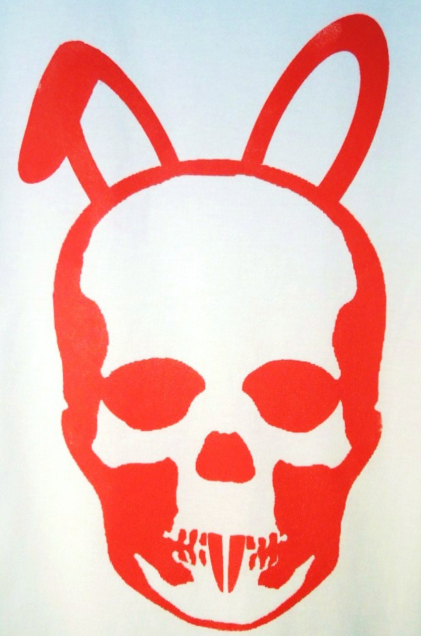Skull Bunny T-shirt white×Red