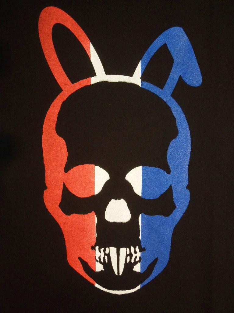 Skull Bunny T-shirt Black×France