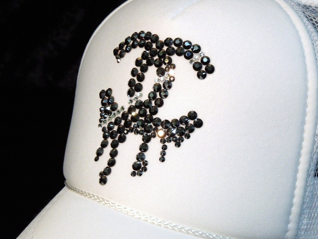 Parody Melting Swarovski cap white