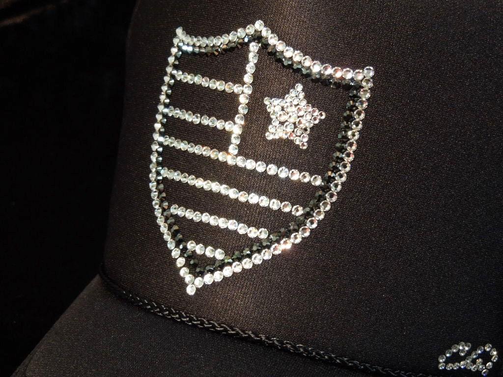 Emblem US Swarovski cap Black