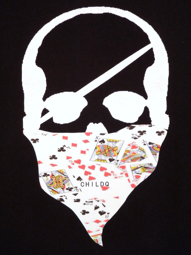 Skull bandana Trump Pattern Long T-shirt black