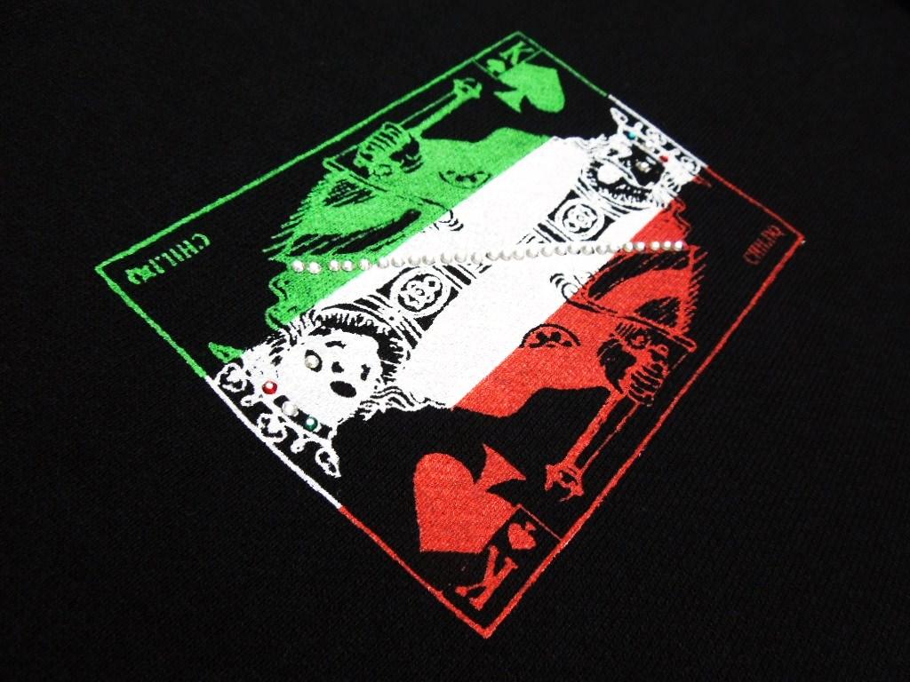 Trump Swarovski Parka / Black × Italy color