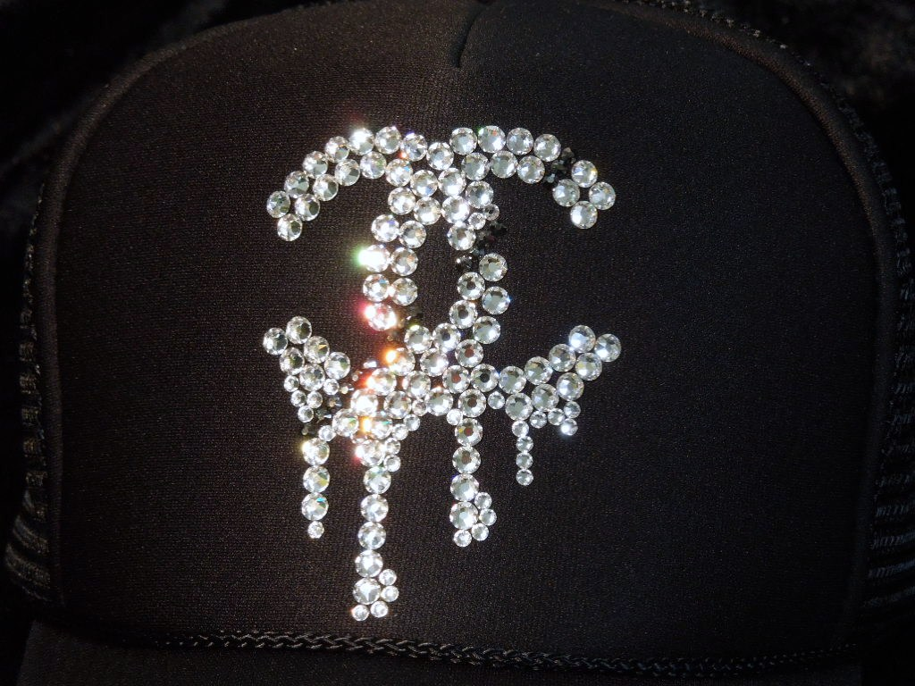 Parody Melting Swarovski Full Custom Cap Black