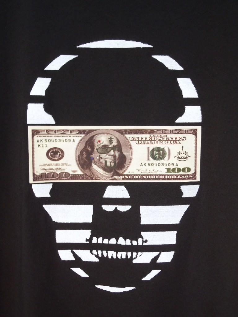 スカル マネー Tシャツ / Black