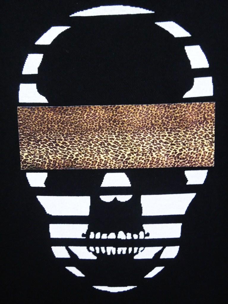 スカル レオパード ロングTシャツ / Black