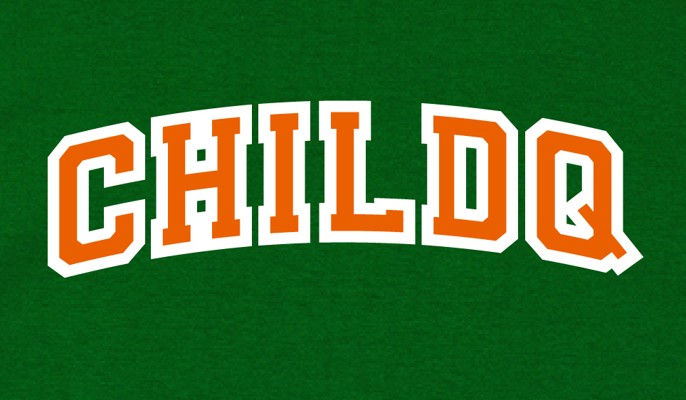 College font style T-shirt Green