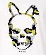 Skull Bunny Camouflage T-shirt White×Yellow