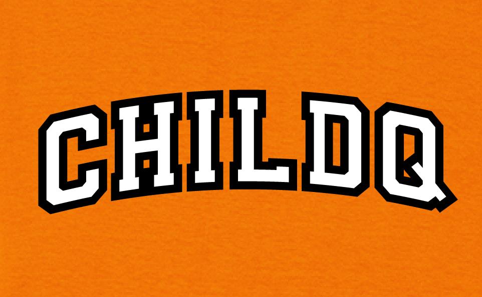 College font style T-shirt orange