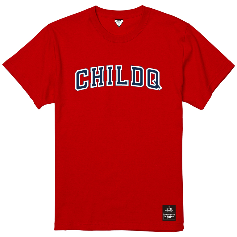 College font style T-shirt Red