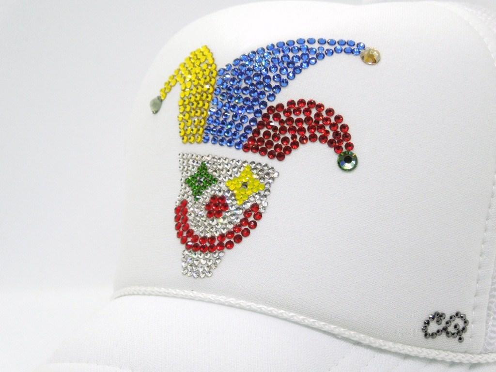 Piero Swarovski Cap White